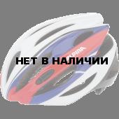 Велошлем Alpina 2018 Cybric white-blue-red