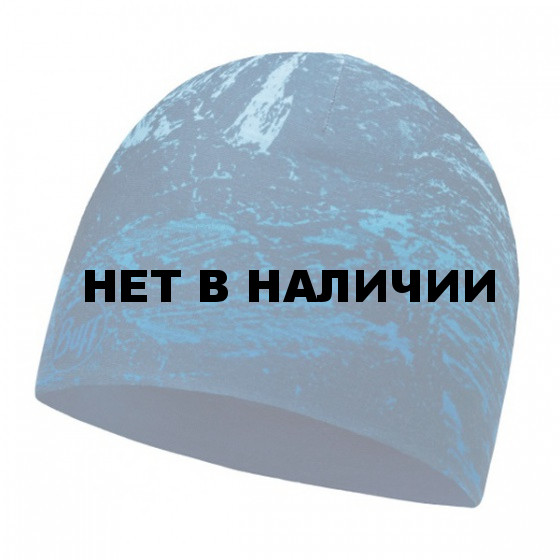 Шапка BUFF MICROFIBER REVERSIBLE HAT BUFF MOUNTAIN BITS BLUE - BLUE
