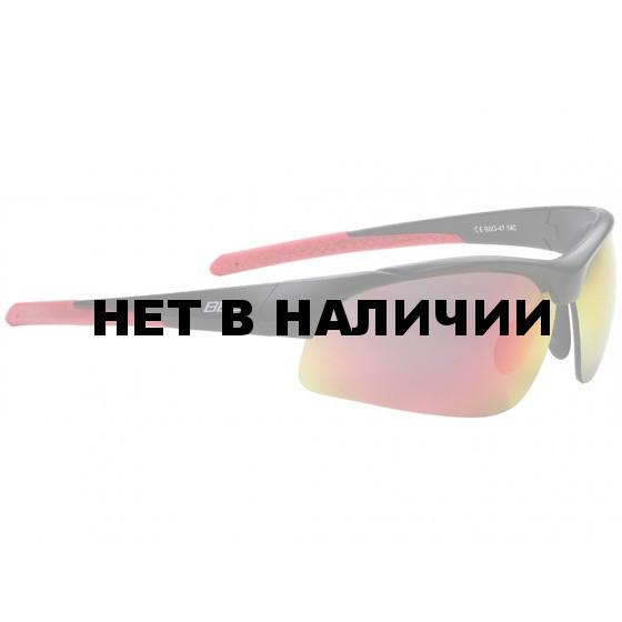 Очки солнцезащитные BBB Impress PC smoke red lenses матовый черный (BSG-47)