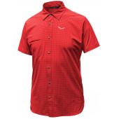Рубашка с коротким рукавом туристическая Salewa 2018 PUEZ MINICHECK DRY M S/S SRT bergrot