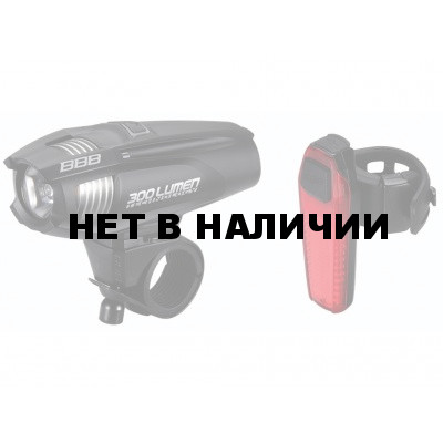 Велофонарь (комплект) BBB 2015 lightset ComboStrike 300 lumen LED black + rear Signal led (BLS-73)