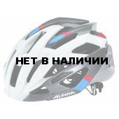 Велошлем Alpina 2018 Valparola RC white-darksilver-blue-red
