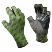 Перчатки рыболовные BUFF Pro Series Angler Gloves Skoolin Sage (св. зеленый)