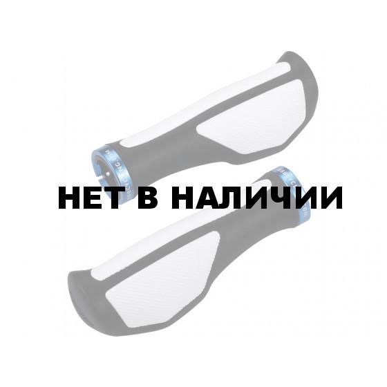 Грипсы BBB ErgoFix 132mm черный/белый (BHG-71)