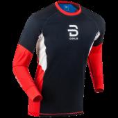 Футболка с длинным рукавом беговая Bjorn Daehlie 2017-18 Long Sleeve Tech Wind High Risk Red
