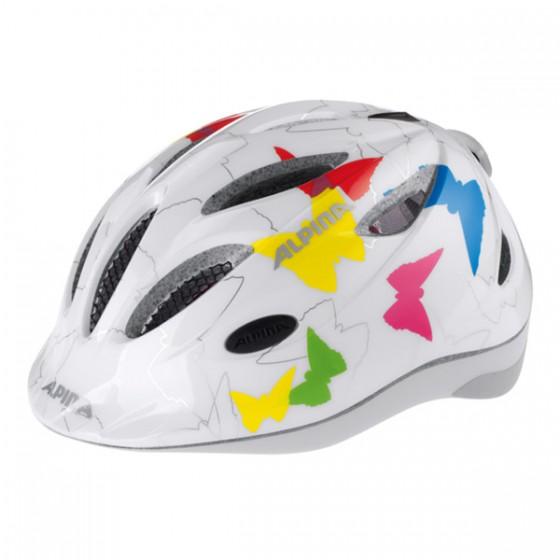 Летний шлем ALPINA 2016 JUNIOR / KIDS Gamma 2.0 Flash white butterfly