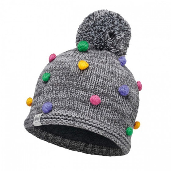 Шапка BUFF 2016-17 KNITTED KIDS COLLECTION CHILD KNITTED & POLAR HAT BUFF ODELL GREY VIGORÉ