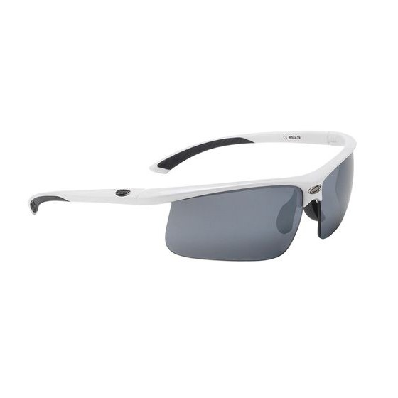 Очки солнцезащитные BBB Winner PC Smoke flash mirror lens black tips white (BSG-39)