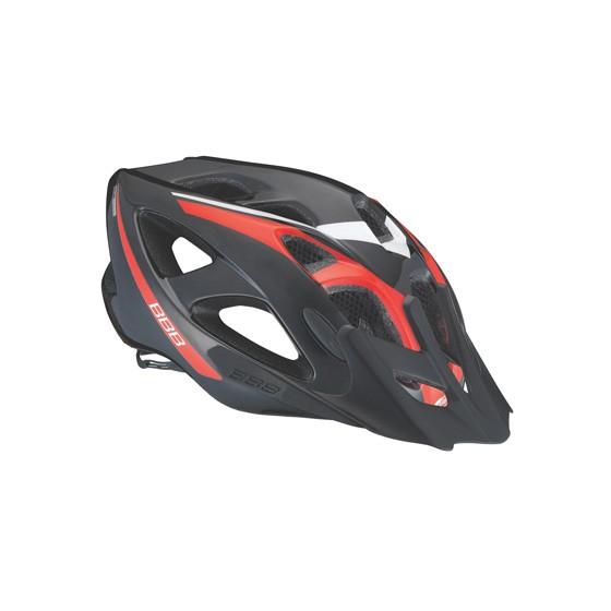 Летний шлем BBB Elbrus with visor black red (BHE-34)