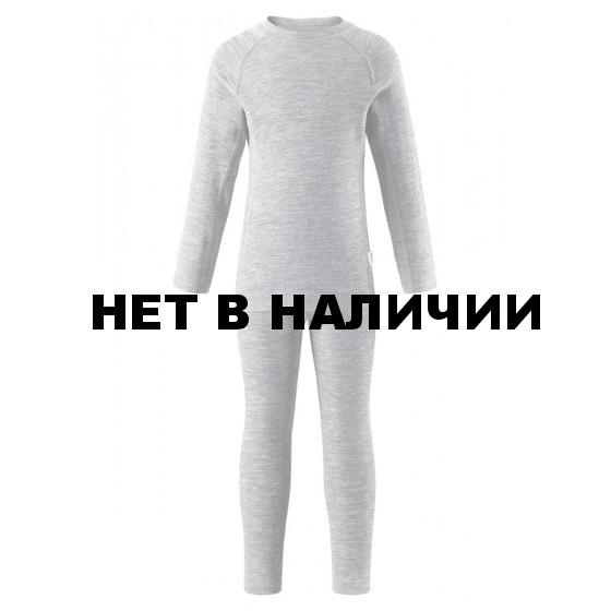 Комплект (футболка, длинный рукав, + брюки) Reima 2017-18 Kinsei Melange grey