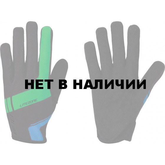 Перчатки велосипедные BBB LiteZone black/greenblue (BBW-46)