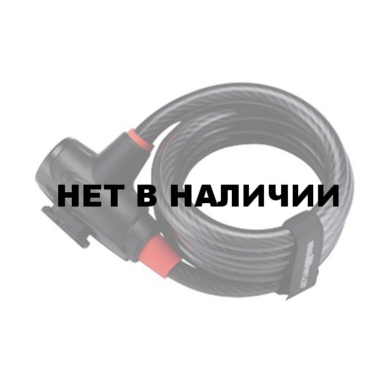 Замок велосипедный BBB PowerLock coil cable 12mm x 1800mm (BBL-41)