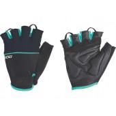Перчатки велосипедные BBB Omnium black/celeste (BBW-47)