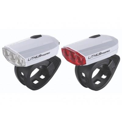 Фонарь (комплект) BBB SparkCombo rechargeable Iithium battery white (BLS-48)