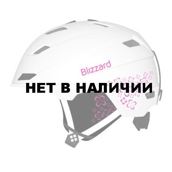 Зимний Шлем Blizzard 2016-17 Viva Double white matt/magenta/flowers