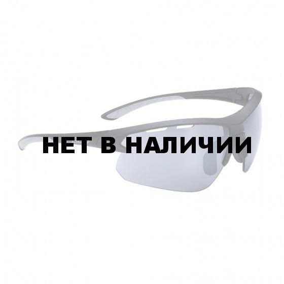 Очки солнцезащитные BBB Impulse grey temple tips, PC Smoke flash mirror lenses матовый черный (BSG-52)