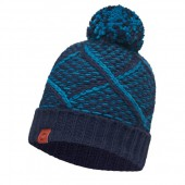 Шапка BUFF 2016-17 LEISURE COLLECTION KNITTED HAT BUFF® PLAID MEDIEVAL BLUE