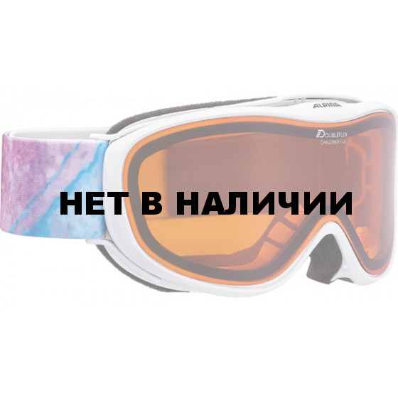 Очки горнолыжные Alpina CHALLENGE S 2.0 DH white/blue/pink/print (periwinkle storm) (S30)
