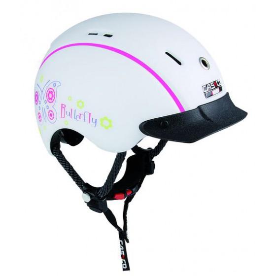Летний шлем Casco 2016 YOUTH & KIDS Mini-Generation butterfly-white