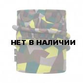 Шарф BUFF REVERSIBLE POLAR NECKWARMER JR & CHILD BLOCK SKULL KHAKI (US:one size)