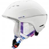 Зимний Шлем Alpina SPICE white-periwinkle matt