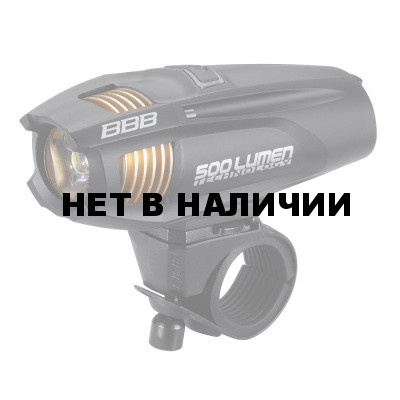 Фонарь передний BBB Strike 500 lumen LED rechargealbe lithium ion 2300mAh battery black (BLS-72)