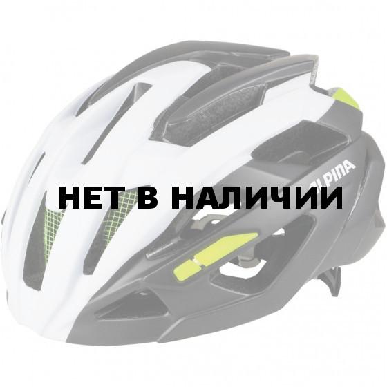 Велошлем Alpina 2018 Valparola RC white-titanium-neon