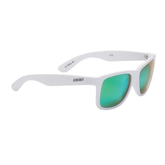 Очки солнцезащитные BBB Street PZ PC MLC green polarised lenses matt white (BSG-46)