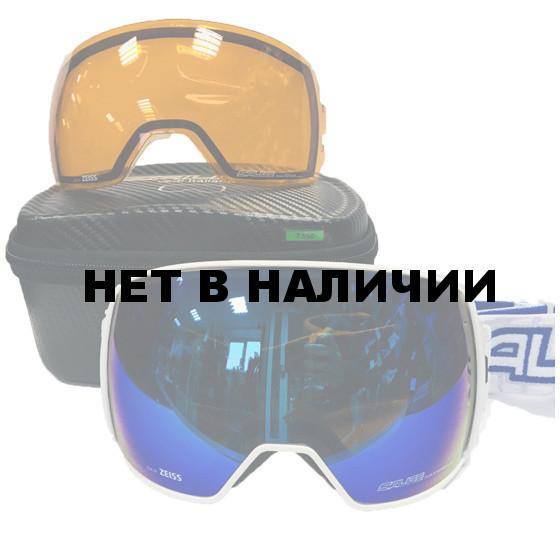 Очки горнолыжные Salice 605DARWF w. Coffre & Spare Lens WHITE-BLUE/RW BLUE + SONAR (б/р:ONE SIZE)