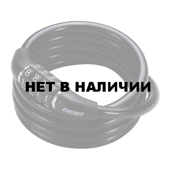 Замок велосипедный BBB 2015 bicyclelock CodeFix 8mm x 1200mm Coil cable black (BBL-65)
