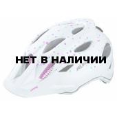 Велошлем Alpina 2018 Carapax Jr. white polka dots