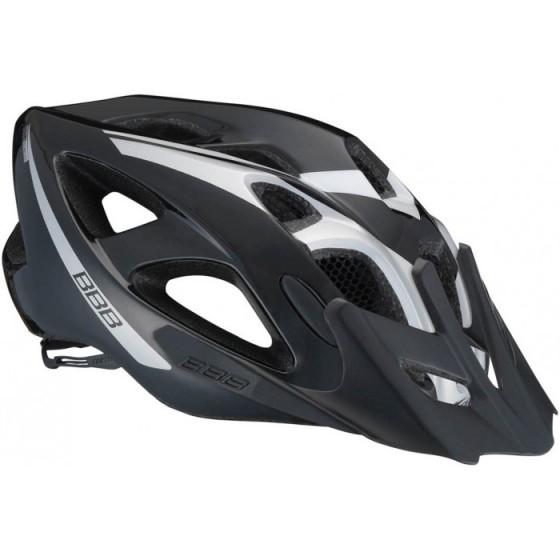 Летний шлем BBB Elbrus with visor black silver (BHE-34)
