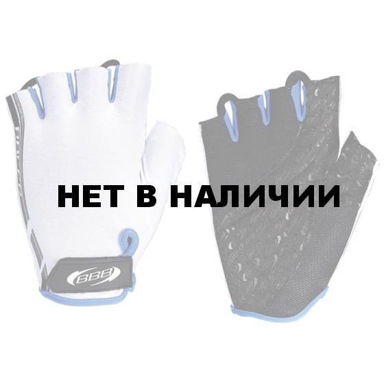 Перчатки велосипедные BBB Racer white blue (BBW-37)