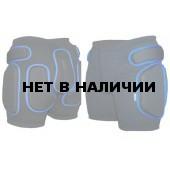 Защитные шорты BIONT Экстрим Плюс с закрытым пластиком 16-20мм Черный