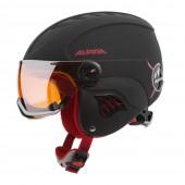 Зимний Шлем Alpina CARAT L.E. VISOR HM black-red matt
