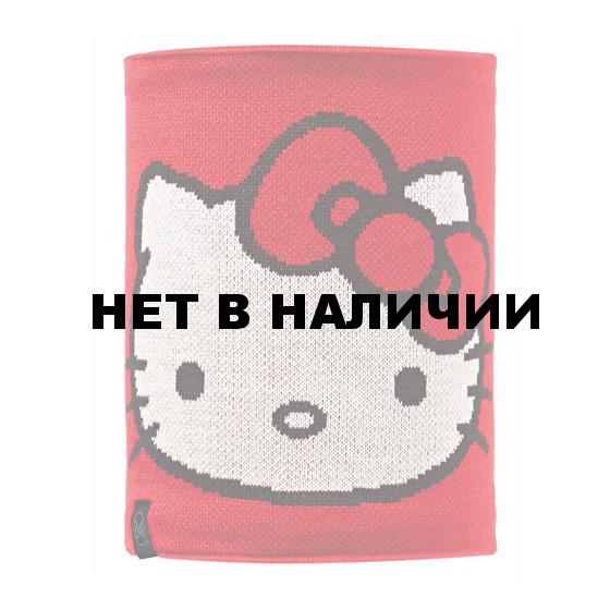 Шарф BUFF NECKWARMER BUFF Knitted&Polar Fleece HELLO KITTY CHILD SCARLETKITTY/GREY VIGORE
