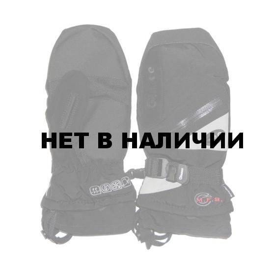Варежки GLANCE Fighter Mitten (black/silver) черный/серый