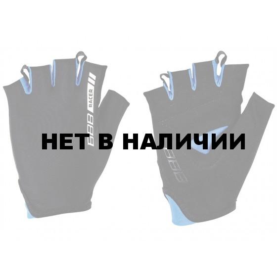 Перчатки велосипедные BBB 2015 gloves Racer black blue (BBW-44)