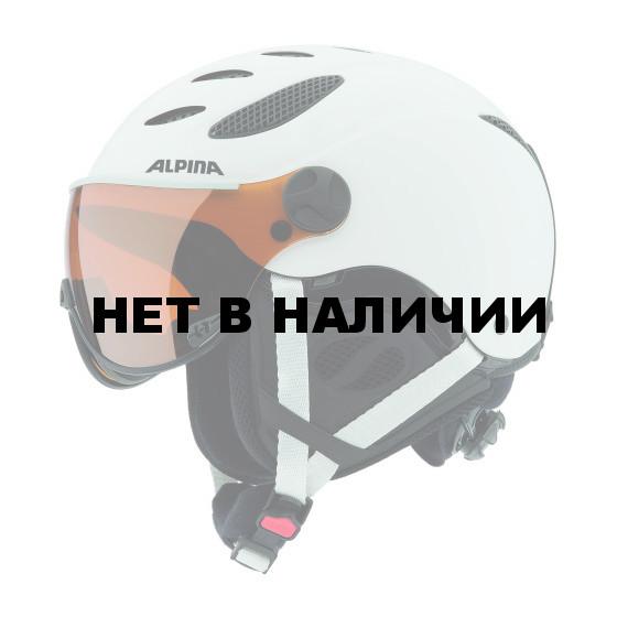 Зимний Шлем Alpina VISOR JUMP JV white matt (см:55-57)