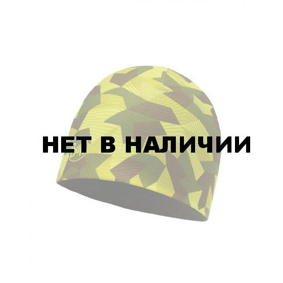 Шапка BUFF MICROFIBER REVERSIBLE HAT BLOCK CAMO GREEN