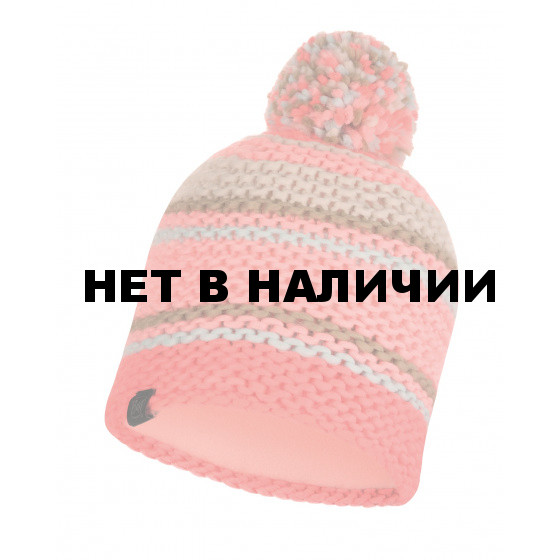 Шапка BUFF KNITTED & POLAR HAT DORIAN CORAL PINK