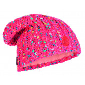 Шапка BUFF KNITTED & POLAR HAT YSSIK PINK FLUOR