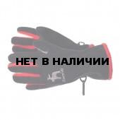 Перчатки флис GLANCE 2012-13 Frosti black/red (черный/красный)