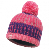 Шапка BUFF KNITTED & POLAR HAT CHILD TWIST BLOSSOM RED (US:one size)
