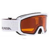Очки горнолыжные Alpina SCARABEO JR. DH white/grey (white dots) (б/р:ONE SIZE)