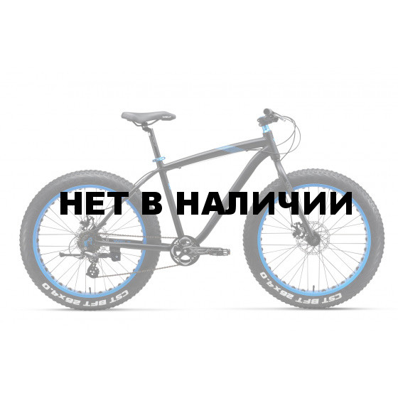 Велосипед Welt 2018 FAT Freedom 26 matt black/blue