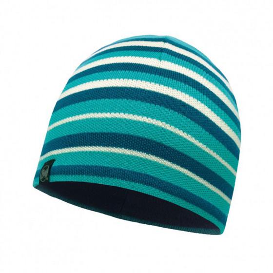 Шапка BUFF KNITTED & POLAR HAT LAKI STRIPES LAKE BLUE (US:one size)