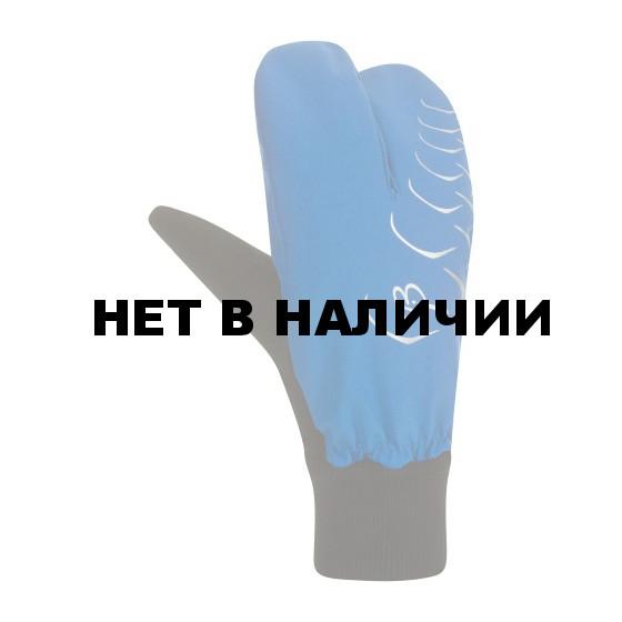 Перчатки беговые Bjorn Daehlie Mittens CLAW Ocean Blue/Black (синий/черный)