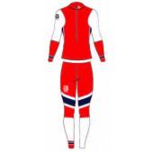 Комплект беговой Bjorn Daehlie 2017-18 Racesuit Nations 2-Piece Wmn Norwegian Flag (US:XS)