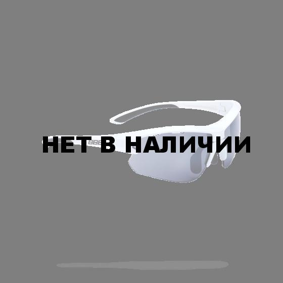 Очки солнцезащитные BBB 2018 Impulse small PC Smoke flash mirror lenses белый, черный